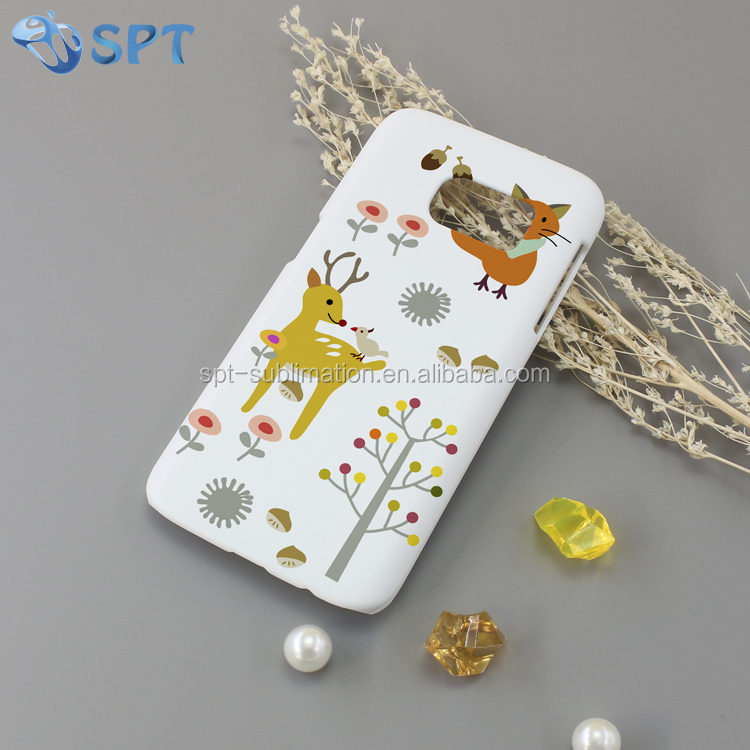 3D sublimation plastic cell phone case/ 3D cell phone case /3D sublimati blank mobile phone cover for Samsung S7