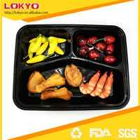 food container 3 compartment disposable plastic pp microwave lunch box