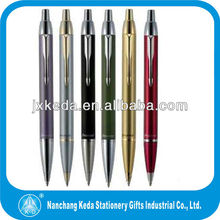 2014 hot selling high quality promotional orange engraved metal parker pen models