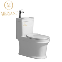 MEIYANI Toilet with wash basin water saving for small bathroom, tornado flushing good washing funtion