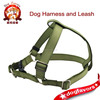 Army Green Solid Nylon Harness For Big Dogs, Classic Pet Harness