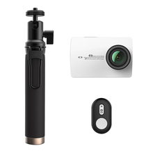 International Version xiaomi Xiaoyi YI 4K Action Camera 2 with original Selfie Stick & Bluetooth Remote sport camera