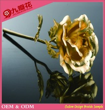Golden rose 24k With Gift Box and Gift Card Metal Craft Flower Wholesale Factory Direct Hot selling item