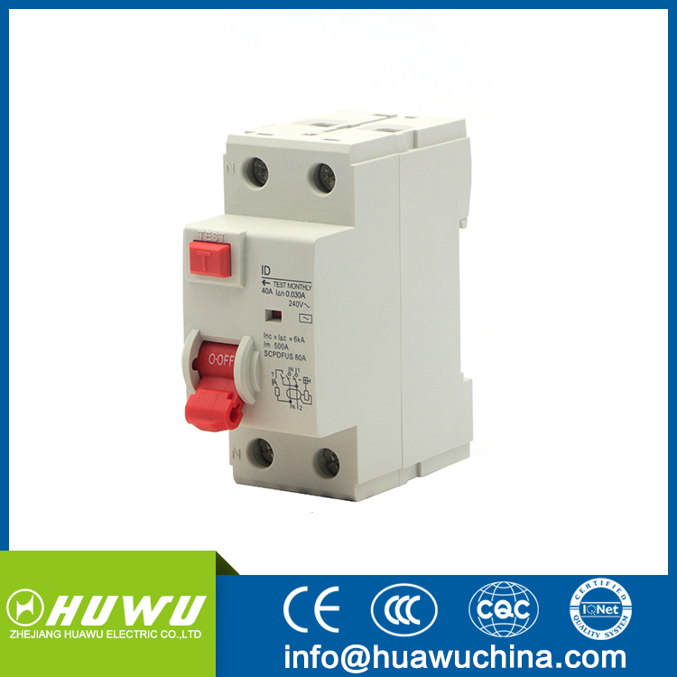 1p+n 32A Earth Leakage/Residual Current Circuit Breaker/RCBO/ELCB/RCCB