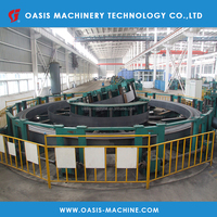 Machinery line for welding tubes making