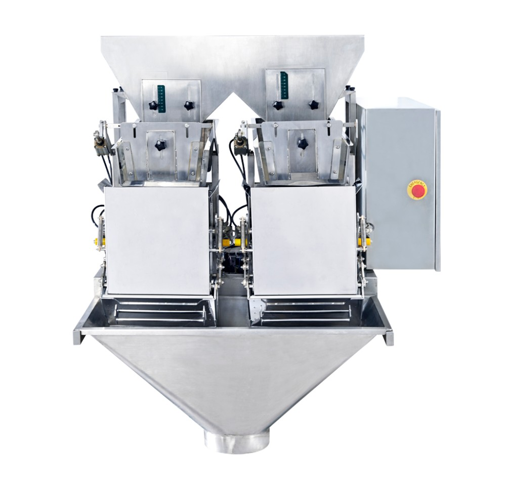 China high quality sunflower seed modular weighing machine for 15L 2 head linear weigher with CE certification and high accuracy