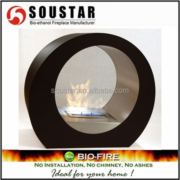 2016 home decor flame indoor round chimenea quemador ethanol fire pit