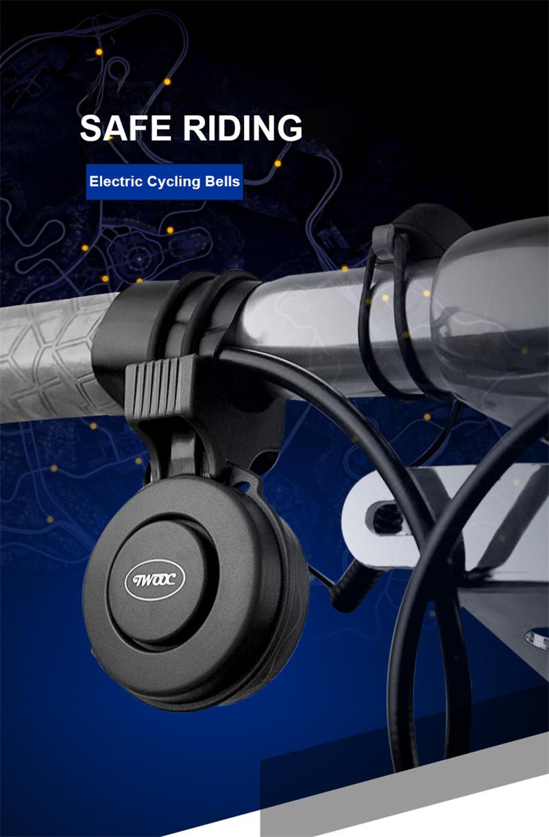 Campanello Bici Elettronico Suono Potente a 120 Decibel