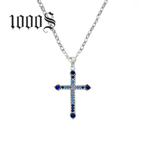 Fine Genuine 100% 925 Sterling Silver Necklace Women Jewelry Fashion Newest Cubic Zirconia Cross Necklaces Pendants