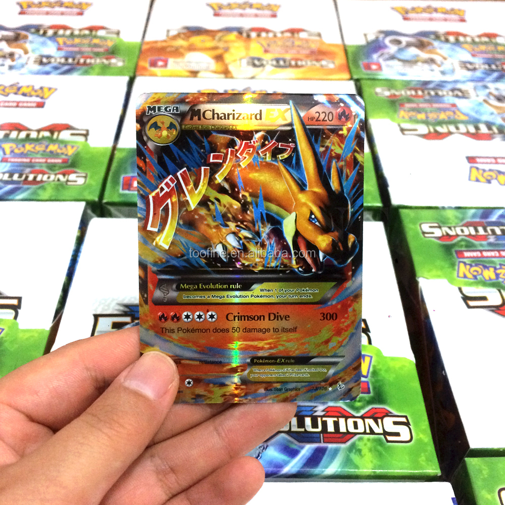 New Edition Pokemon XY Cards EX Mega Booster Box 36 Packs of Each Pack 9 Random Cards Plus One Free Holo Foils Card