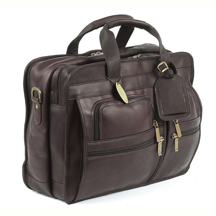 Cowhide Leather Executive Computer Briefcase