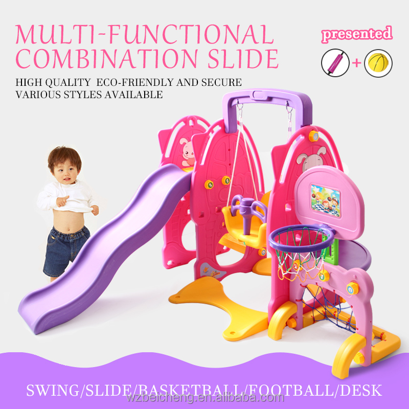 Multi-functional Adjustable Swing Slide Combination For Chidren