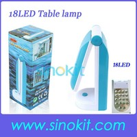 Wholesales 18LED folding table lamps for Outdoor ZDL019