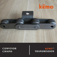 Double pitch conveyor chain with attachment A-1