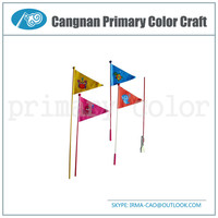 High Quality Bicycle safty flag Bike flag Promotion bike advertising flag