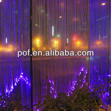 PMMA decorative plastic fiber optic for lighting , changeable color light