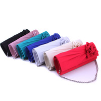 Europe flower hand bag wedding bridesmaid rose women bag with chain