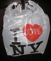 JTD manufacture wholesale custom printed i love new york plastic tshirt bags