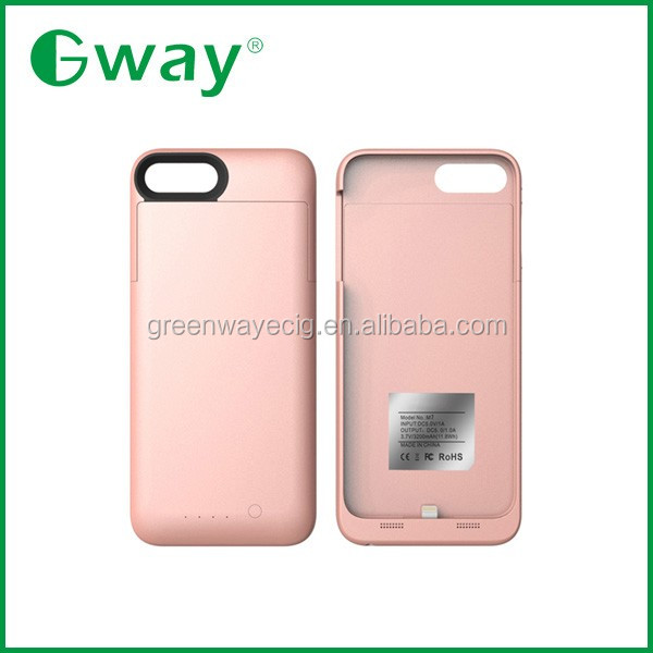 NEW!for iPhone 7, 3200mAh Stylish external battery power bank case