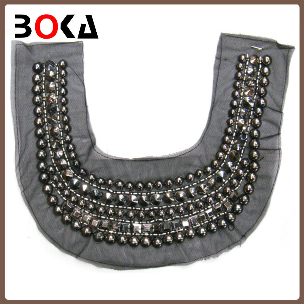Fashion cloth accessories beading women collar neck designs for making ladies top BK-CL236
