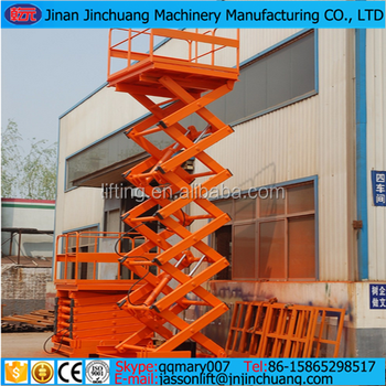 electric hydraulic fixed scissor lifter