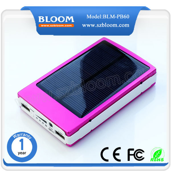 Hot selling ! Laptop charger 20000mah solar power bank Outdoor Travel Mobile Phone Portable Battery