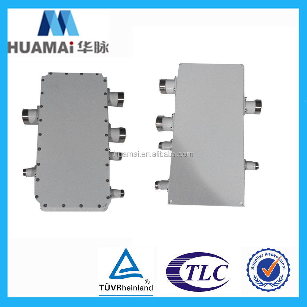 HM-1998-03 Huamai 2016 NEW product 1826-1829,1731-1734 MHz PIM3-150dBc 4in 2 out triplex rf combiner,rf filter manufactures
