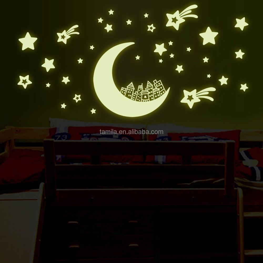 아이 방 장식 달 별 밤 빛나는 스티커-스티커 -상품 ID:60353323508 ...