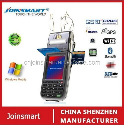 customized date collecting moblie pda phone , industrial pda , barcode, scanner with thermal printer and fingerprint