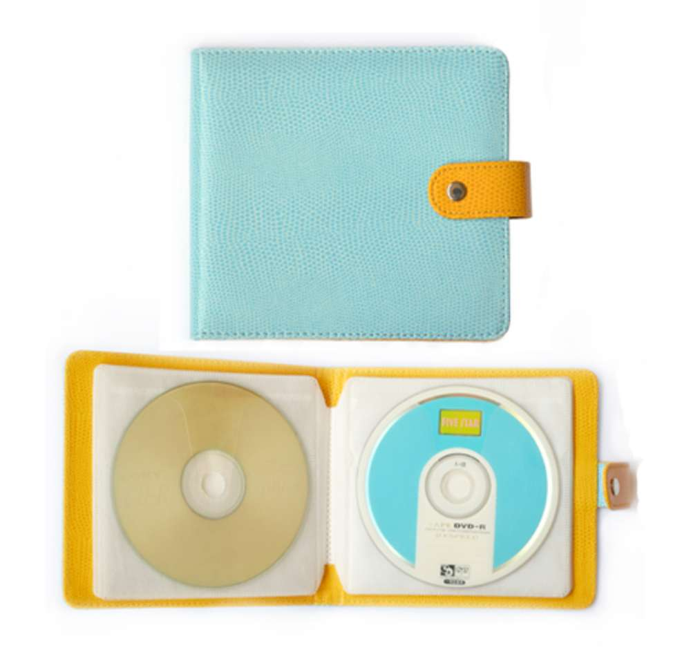 PU Leather CD Case 20 Capacity Car DVD Holder Disc Disk Storage