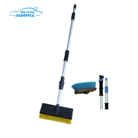 Multi Useful Telescopic Handle Soft Bristle Car Wash Brush with Sponge