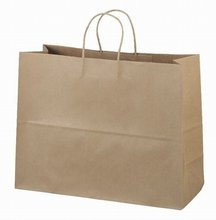 Cheap brown kraft paper gift bag with twisted handles,flat handle paper grocery bags