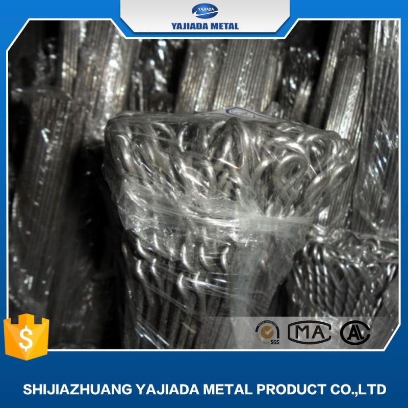 2016 Manufacture Decorative filler metal black annealed double loop tie wire galvanized type wire