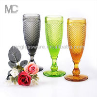 High quality colored champagne flute glass
