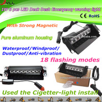 1W 6 pcs LED desh deck Emergency warning light & strobe windows mount light