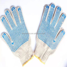 Cotton Gloves Protect Hand Cotton Gloves 7 Gauge 10Gague Single/Double Pvc Dotted Cotton Gloves Protect Hand