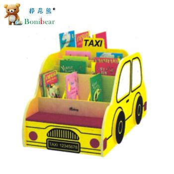 Kindergarten Furniture Taxi Design Book Storage For Children