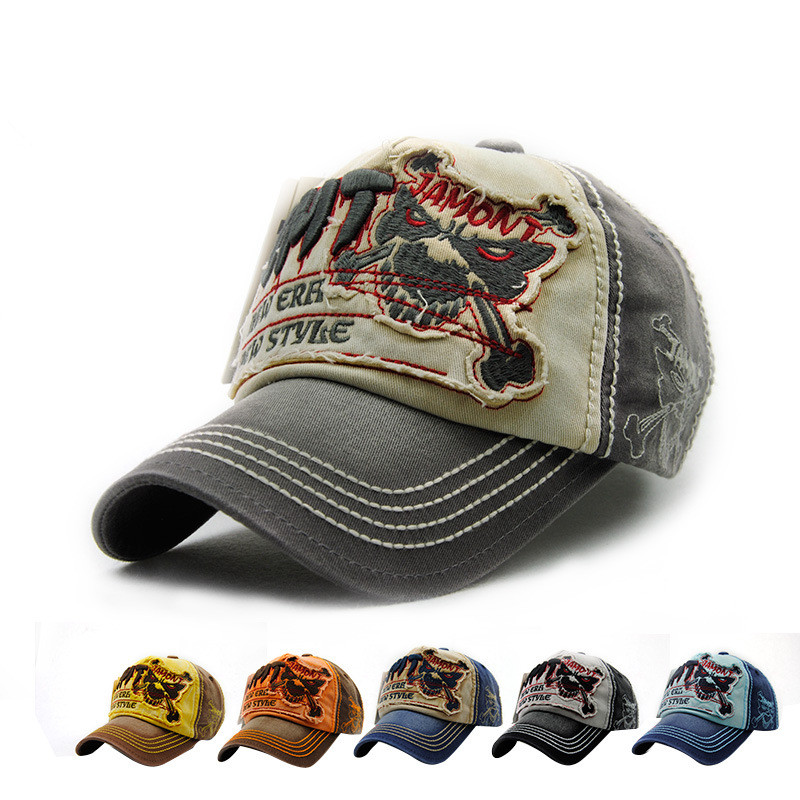 2017 new fashion high quality custom mix colors sport skull style mens cowboy cap