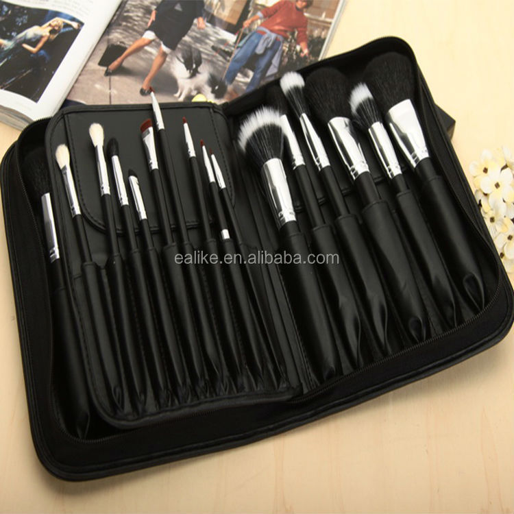 New design private label oem wholesale high quality travelling custom logo synthetic professional make up brushes 2015