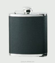 6oz 18/8 stainless steel hip flask+two cups, satin finish,size:94x31x120(H)cm