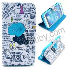Cross Texture Magnetic Wallet Style Flip Stand TPU+PU Leather for Samsung Galaxy S4 Graffi Case i9500 i9505 i9508 i9509