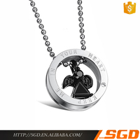 Wholesale fashion stainless steel angel western jewelry making supplies