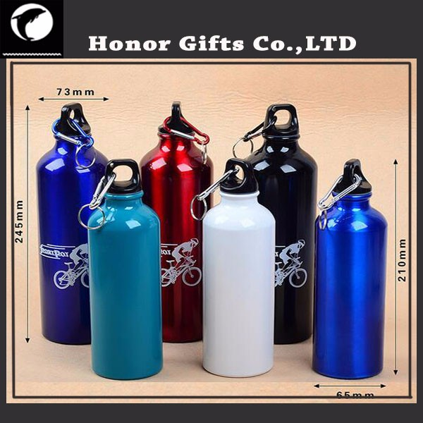 Custom Promotional Logo Printed Cheap Aluminum Sport Water Bottles