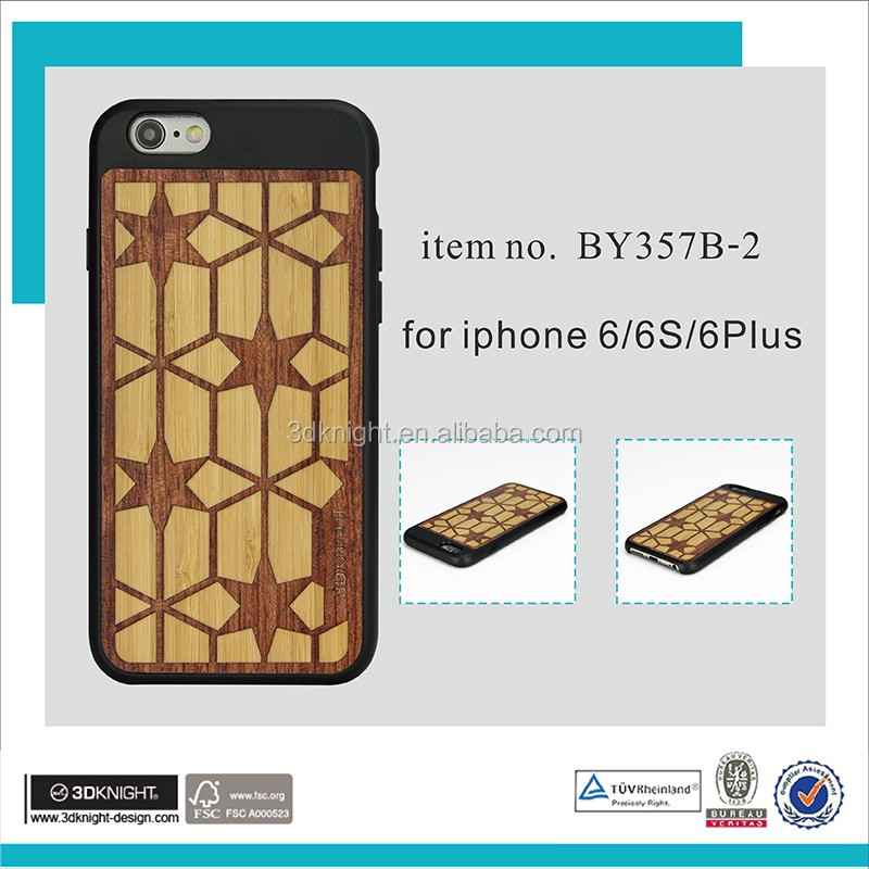 High Quality Wooden Cell Phone Case For iPhone 6 6s engraved wood phone case