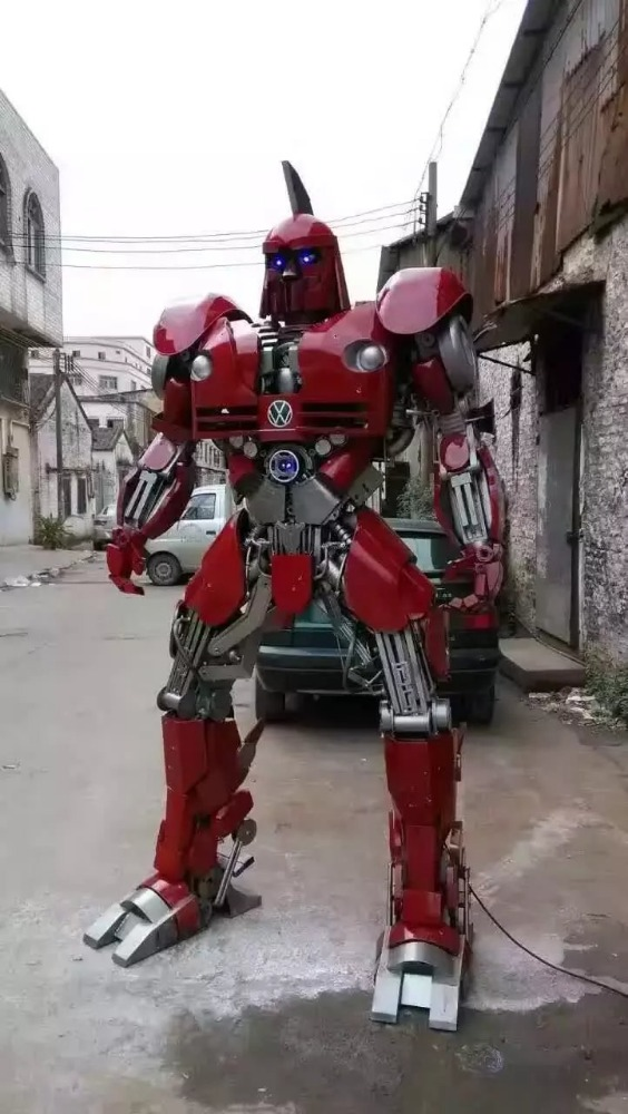 Big car transformer robot decoration outdoor