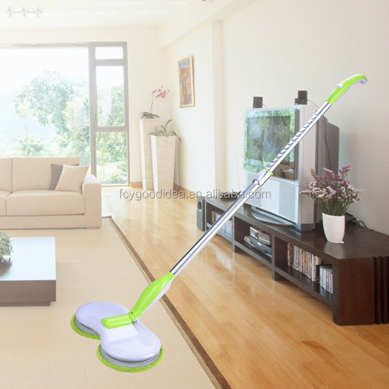 2016 FCY selling well 360 spin mop cleaner electric automatic mop floor cleaning machine Creative Wireless Electric Flat Mop