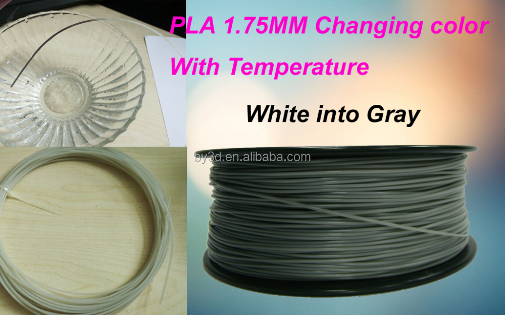 Hot selling Color changing with sunshine or Temperature PLA 3D filament