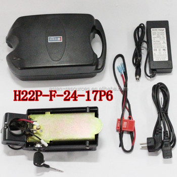 H22P-F-24V 17.6Ah Bicycle Seat Post Li-ion Battery Electric Bike Lithium Battery Monomer Black Case Polymer Battery