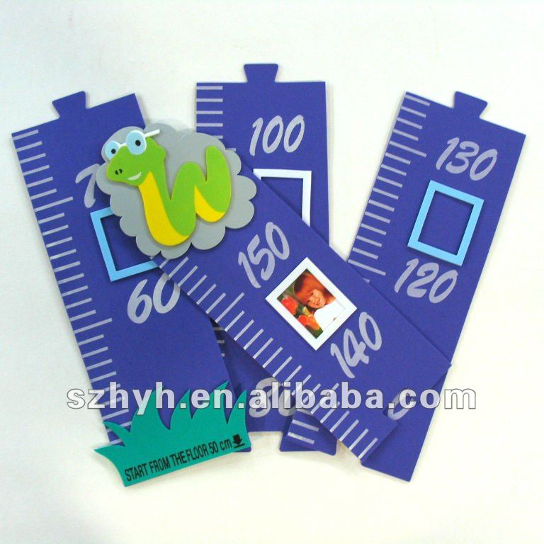 Animal eva foam growth ruler