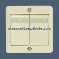 Surface mounted two gang one way light switch (SR-20201)